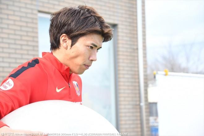 新加入の田村友選手は少し緊張気味