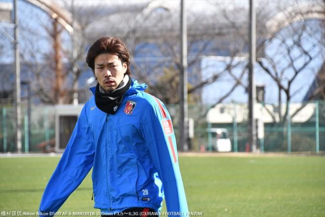 リハビリで1人寂しく登場した福島春樹選手。