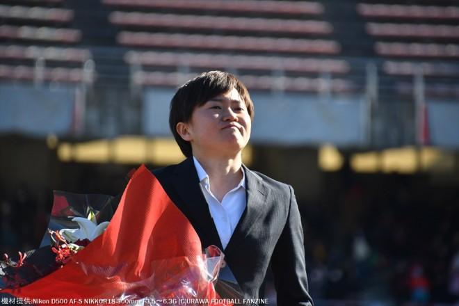 浦和を退団する後藤三知選手の最後の挨拶。