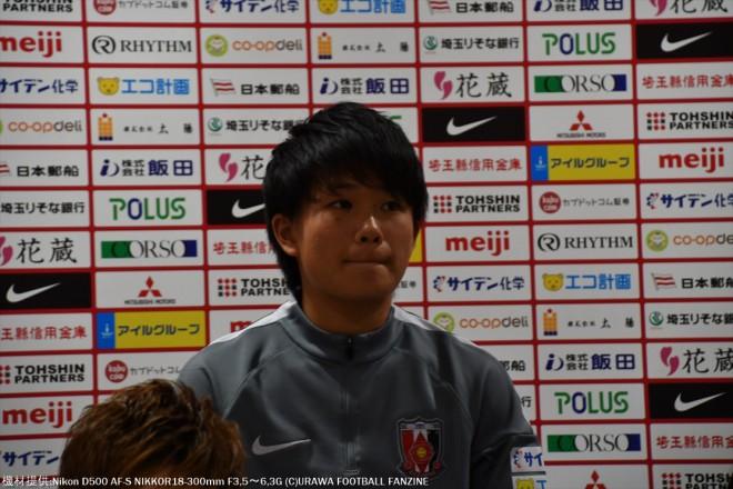 レディースユースから昇格のDF南萌華選手。
