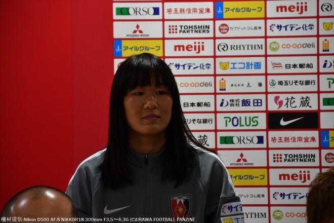 JFAアカデミー福島から加入の大熊良奈選手。