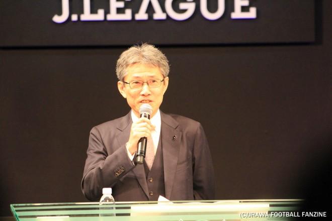 """浦和レッズ創世記にフロントで活躍した""""ミスター""""佐藤氏は、Jリーグのスタジアム推進グループで活躍する。"""